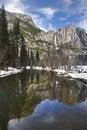 Free Yosemite Falls In Winter Stock Image - 18730211