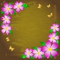 Free Grunge Floral Background. Stock Image - 18730951