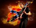 Free Rock Guitarist Royalty Free Stock Image - 18738096