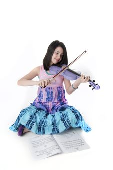 Free Cute Preteen Musician Stock Photos - 18730963