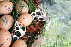 Free Easter Wreath Stock Photography - 18731162