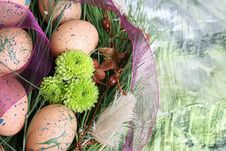 Easter Wreath Royalty Free Stock Photos