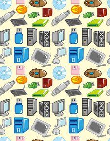 Seamless Computer Pattern Stock Photo
