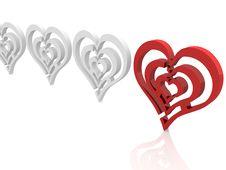 Free Hearts Royalty Free Stock Photos - 18733088