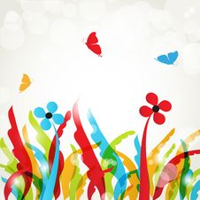 Free Abstract Floral Background Stock Photography - 18734342