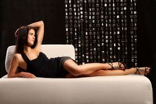 Free Woman On Couch Royalty Free Stock Photos - 18734438