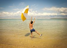 Free Happy Young Man At The Beach Stock Photography - 18734612