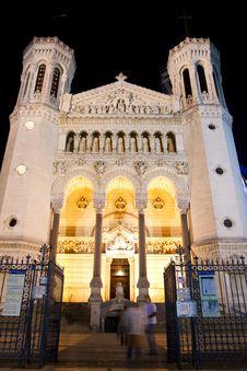 La Basilique Notre Dame De Fourviere Stock Photography