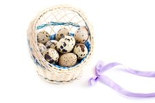 Free Quail Eggs In Basket Royalty Free Stock Images - 18735049