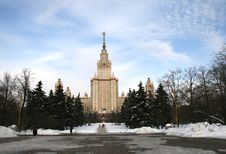 Free Moscow State University Russia Stock Image - 18735201
