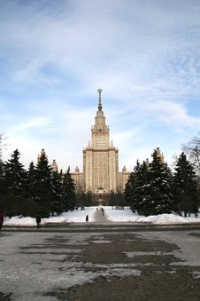 Moscow State University Russia Royalty Free Stock Photography