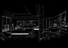Interior Architecture Construction Landscape Sketch Royalty Free Stock Photo