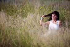 Free Happy Girl In The Grass Royalty Free Stock Photos - 18735678