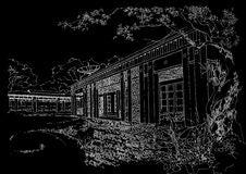 Interior Architecture Construction Landscape Sketch Stock Image