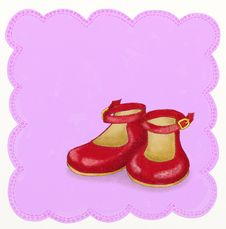 Free Little Girl Shoes - Childish Style Royalty Free Stock Image - 18735766
