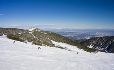 Free Skiing In Rila Mountains At Borovets, Bulgaria Stock Images - 18735854