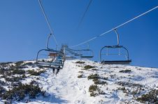Free Chair Ski Lift Over Mountain Landscape Stock Image - 18736051