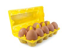 Free Isolate Eggs In The Package Stock Photo - 18736130