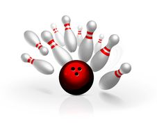 Free Bowling Strike  Illustration Royalty Free Stock Photo - 18736305