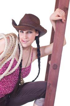 Free Beautiful Cowgirl Stock Photo - 18736860