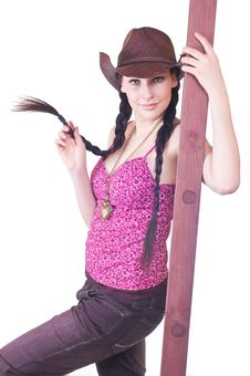 Free Beautiful Cowgirl Stock Images - 18736954