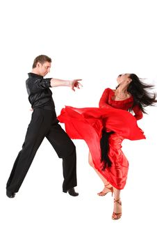 Free Dancers In Action Isolated Stock Photography - 18737082