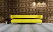 Free Yellow Sofa Royalty Free Stock Images - 18737449
