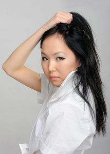 Free Asian Girl Closeup Portrait Stock Photo - 18737470