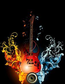 Free Guitar Illustration Stock Image - 18737931