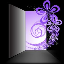 Free Open The Door With The Purple Swirl Royalty Free Stock Image - 18738146