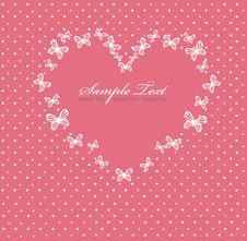 Free Pink Valentines Day Card With Heart Stock Image - 18738451