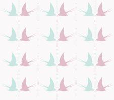 Free Cute Swallow Seamless Pattern Stock Photo - 18738480