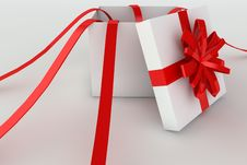 Free Opened Giftbox In 3d Royalty Free Stock Photos - 18739018