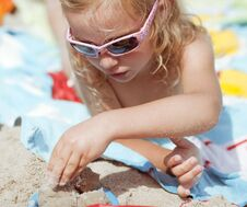 Free Playing In The Sand Royalty Free Stock Image - 18739846