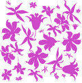 Free Violet Flower Ornament Background Royalty Free Stock Image - 18740836