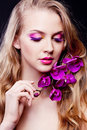 Free Woman With An Orchid Royalty Free Stock Photo - 18741595