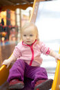 Free Young Adorable Baby Sliding Down Royalty Free Stock Photos - 18747758