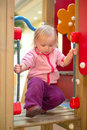 Free Adorable Baby Climb To Baby Slide On Playground Royalty Free Stock Photography - 18747777
