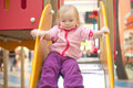 Free Adorable Baby Sliding Down On Playground Stock Photos - 18747783