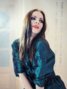 Free Beautiful Model Woman Face With Fashion Make-up Royalty Free Stock Photography - 18748537