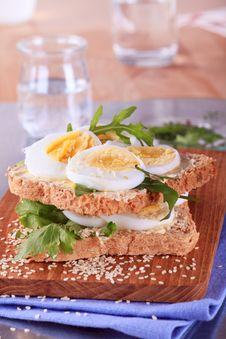 Egg Sandwich Royalty Free Stock Photo