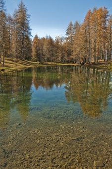 Free Lake In The Dolomites Royalty Free Stock Photography - 18741647