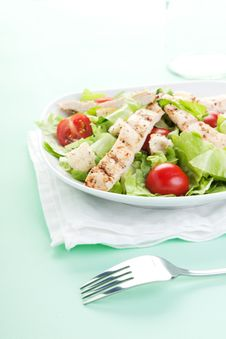 Free Chicken Caesar Salad Royalty Free Stock Images - 18743359