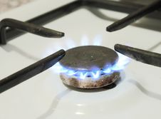 Free Burning Natural Gas On A Plate Stock Photography - 18743922