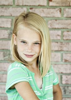 Cute Little Blonde Girl Royalty Free Stock Photos