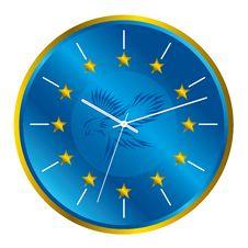 Free Patriotic Clock Royalty Free Stock Images - 18744559