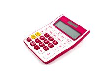 Free Pink Calculator Royalty Free Stock Image - 18745226