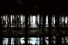 Free Beneath The Pier Royalty Free Stock Photos - 18745338
