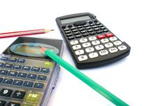 Free Calculators And Pencils Royalty Free Stock Photos - 18745598