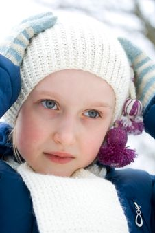 Girl In Winter Royalty Free Stock Image